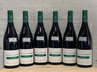 Lot 80 - 6 Bottles Nuits St Georges 1er Cru 'Les Pruliers' Domaine Henri-Gouges 1998