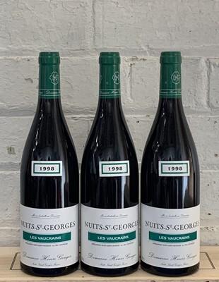 Lot 81 - 3 Bottles Nuits St Georges 1er Cru 'Les Vaucrains'  Domaine Henri-Gouges 1998