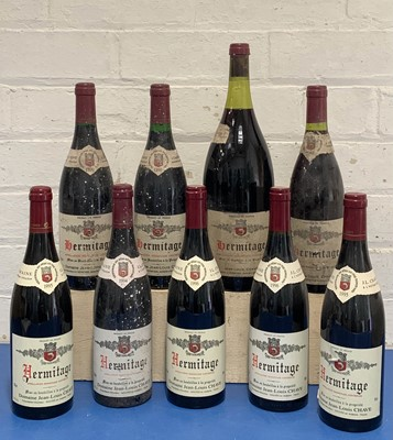 Lot 100 - Collection of 1 magnum Hermitage JL Chave (believed 1983) together with 8 bottles Hermitage JL Chave