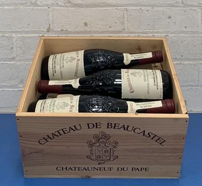 Lot 103 - 6 Bottles (in OWC) Chateauneuf du Pape Chateau de Beaucastel 1998