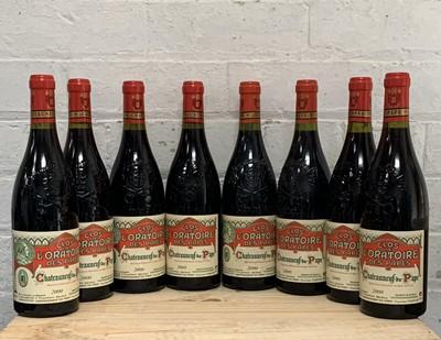 Lot 106 - 8 Bottles (6 in OC) Chateauneuf du Pape 'Clos de l' Oratoire 2000