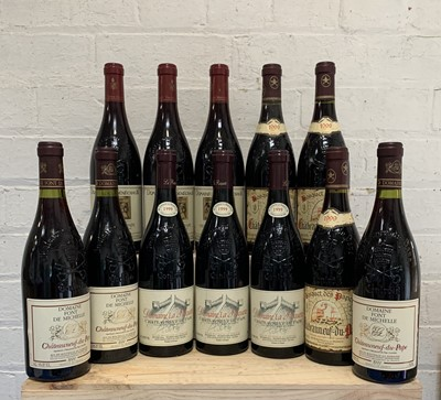 Lot 108 - 12 Bottles Mixed Lot Fine and Rare Chateauneuf du Pape from 1999 Vintage