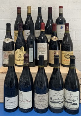 Lot 109 - 16 Bottles Mixed Lot of Fine Reds from Southern Rhone, Provence, Languedoc and Collioure