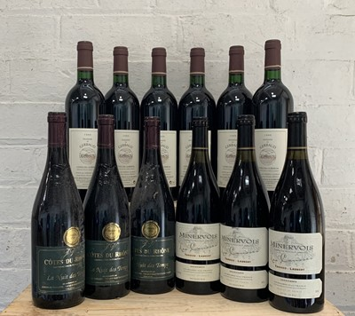 Lot 110 - 12 Bottles Mixed Lot Estate Minervois, Luberon and Cotes du Rhone (Vacqueyras)