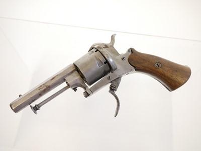 Lot Belgian pinfire revolver