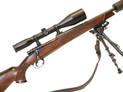Lot Parker Hale .308 rifle with Schmidt and Bender Scope and moderator LICENCE REQUIRED.