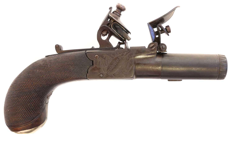 Lot Flintlock pocket pistol by Nock