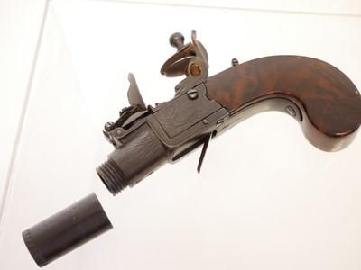 Lot Richards flintlock pocket pistol