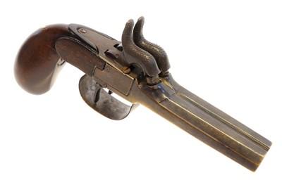 Lot Percussion double barrel pocket pistol