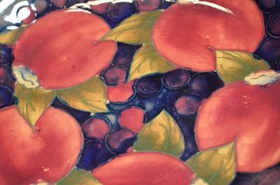 Lot Two Moorcroft Pomegranate plates
