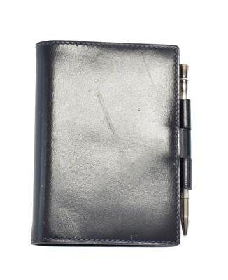 Lot 22 - A Hermès Mini Address Book and Silver Mechanical Pencil
