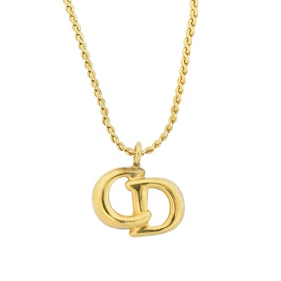 Lot 27 - A Christian Dior Logo Necklace