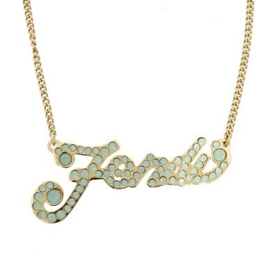 Lot 38 - A Fendi Logo Necklace