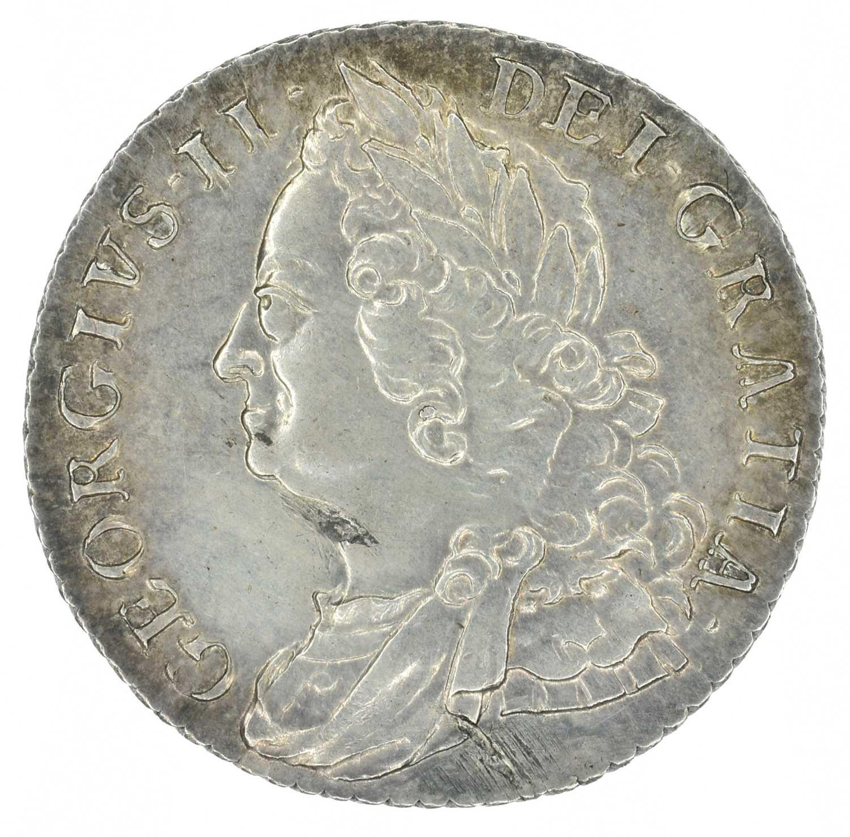 Lot 25 - King George II, Shilling, 1758.