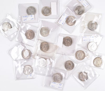 Lot 46 - Selection of George VI Shillings (28) and Queen Elizabeth II Shillings (2).
