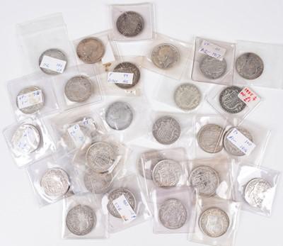 Lot 38 - Quantity of 31 George V silver Halfcrowns and 33 George V and VI debased Halfcrowns (64).