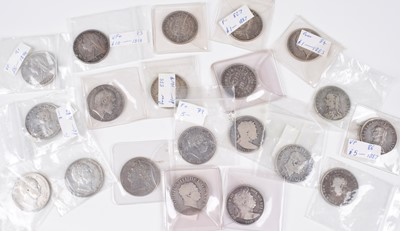 Lot 28 - Silver halfcrowns from George III, George IV, William IV, Victoria and Edward VII (39).