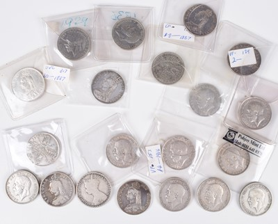Lot 18 - Selection of silver and later Florins from Queen Victoria to George V (20).