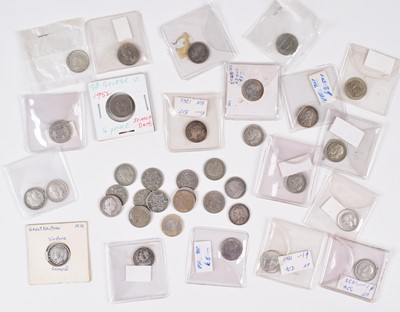 Lot 15 - Selection of sixpences from William IV to Elizabeth II (quantity).