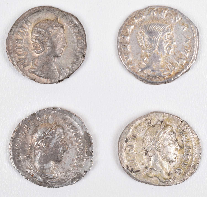 Lot 10 - Four Roman silver coins (4).