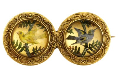 Lot 345 - A late Victorian Essex Crystal brooch