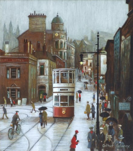 425 - Arthur Delaney, Warren Street, Stockport, oil.