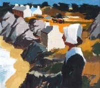 428 - Donald McIntyre, Plougrescant, Brittany, acrylic.