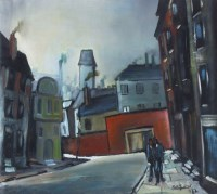 460 - William Turner, Pritchard Street, Manchester, oil.
