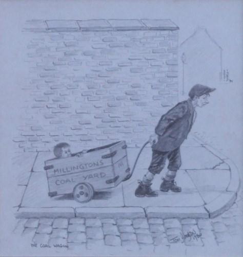 538 - Tom Dodson, The Coal Wagon, pencil.