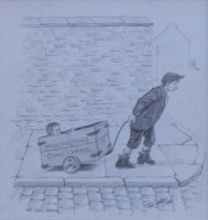 538 - Tom Dodson, The Coal Wagon, pencil.