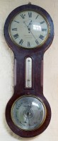 615 - Thomas Russell Liverpool clock/barometer with key