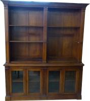 656 - Double bookcase.