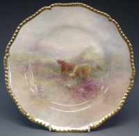 137 - Royal Worcester plate signed H. Stinton   painted