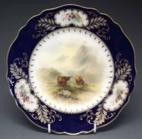 138 - Royal Worcester plate signed J. Stinton   painted