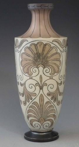 Lot 168-Martin Brothers patterned vase.