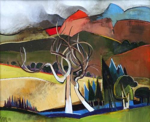 342 - Geoffrey Key, Dead Elm, oil.