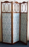 455 - Mahogany three division screen.