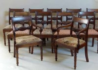 465 - Eleven Wm IV dining chairs.