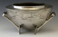 16 - Pewter bowl 0229 attributed to Archibald Knox.