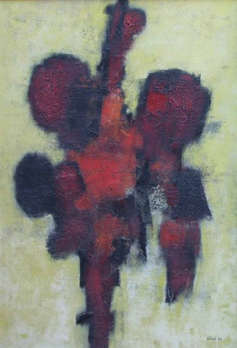 283 - William Gear, Red Idol, oil.