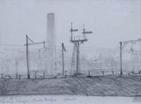 394 - Trevor Grimshaw, Railway Sidings, Guide Bridge, pencil.