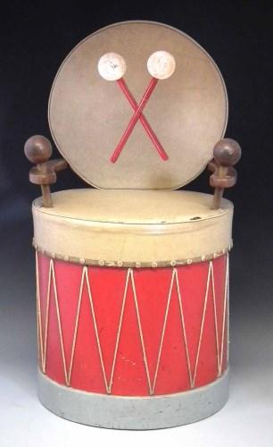 Lot 522-Cecil Beaton drum chair.