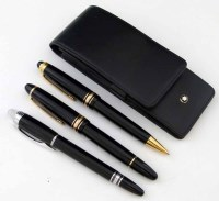 27 - Montblanc fountain pen and two other roller ball