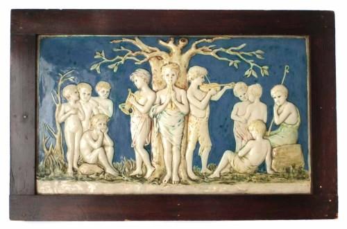 228 - Della Robbia plaque   painted by Marian de Caluwe