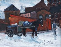 473 - William Turner, The Milkman, Stockport, oil.