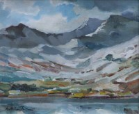 474 - William Turner, Welsh Mountains near Conway, oil.