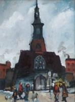 531 - William Turner, Salford Church, oil.