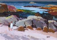 542 - Donald McIntyre, Colourful Shore, Iona, acrylic.