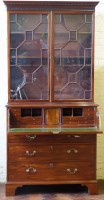 712 - George III secretaire bookcase