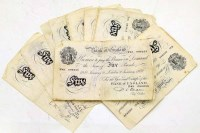3 - Collection of 1950-1956 white £5 notes (23 in